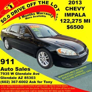 2013 Chevrolet Impala for sale at 911 AUTO SALES LLC in Glendale AZ