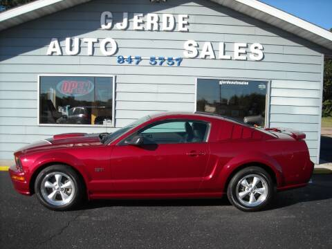 2007 Ford Mustang for sale at GJERDE AUTO SALES in Detroit Lakes MN
