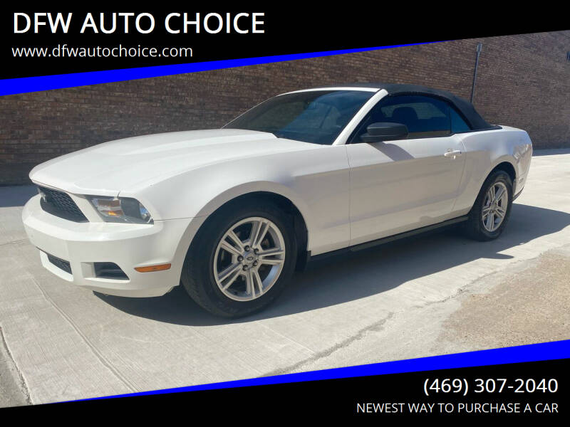 2010 Ford Mustang for sale at DFW AUTO CHOICE in Dallas TX