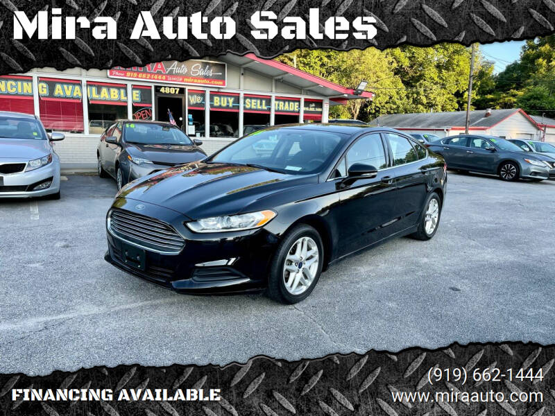 2016 Ford Fusion for sale at Mira Auto Sales in Raleigh NC