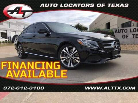 2018 Mercedes-Benz C-Class for sale at AUTO LOCATORS OF TEXAS in Plano TX