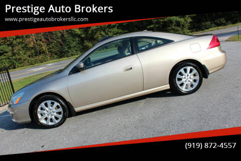 2007 Honda Accord for sale at Prestige Auto Brokers in Raleigh NC
