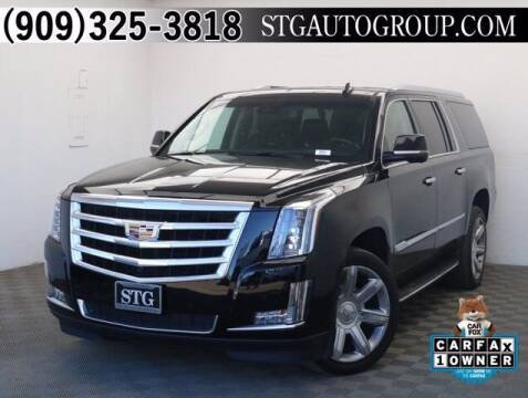 2016 Cadillac Escalade ESV for sale at STG Auto Group in Montclair CA