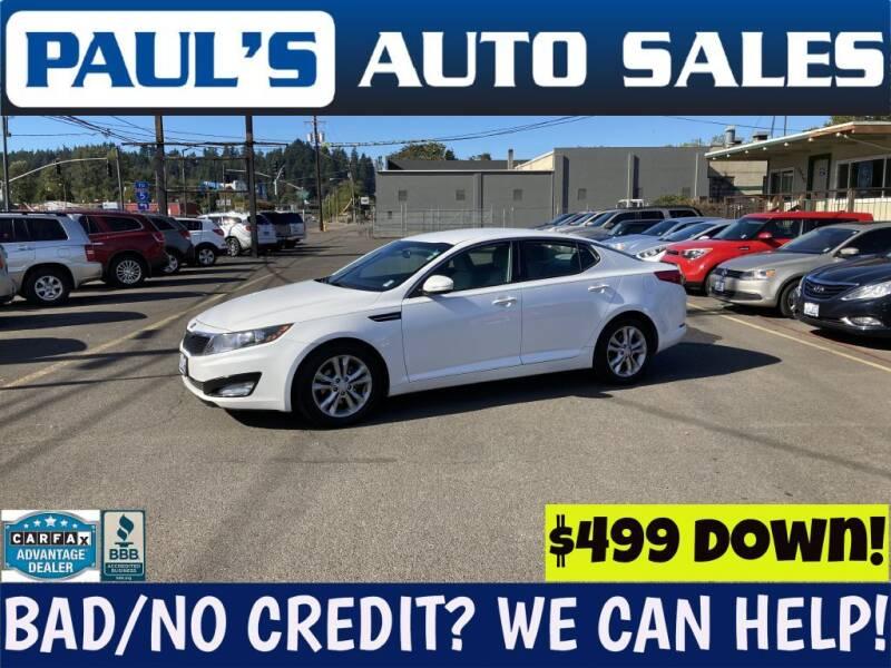 2013 Kia Optima for sale at Paul's Auto Sales in Eugene OR