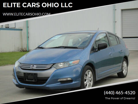 2010 Honda Insight for sale at ELITE CARS OHIO LLC in Solon OH
