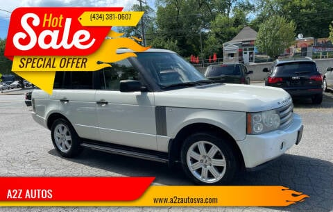 2006 Land Rover Range Rover for sale at A2Z AUTOS in Charlottesville VA