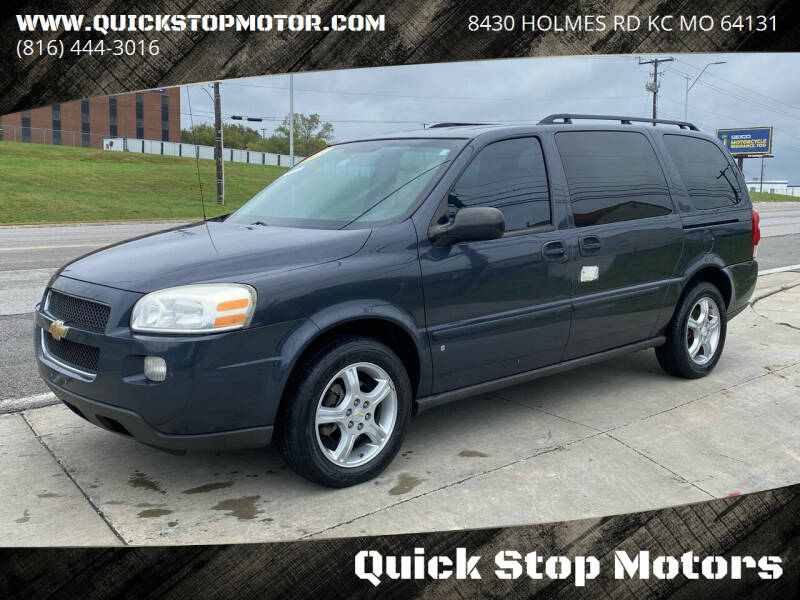 2008 Chevrolet Uplander for sale at Quick Stop Motors in Kansas City MO