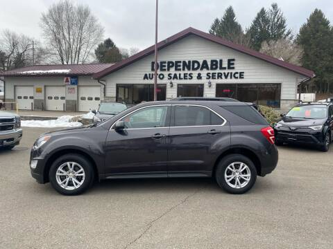 2016 Chevrolet Equinox for sale at Dependable Auto Sales and Service in Binghamton NY
