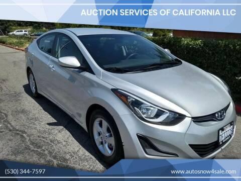 2015 Hyundai Elantra for sale at AUCTION SERVICES OF CALIFORNIA in El Dorado CA