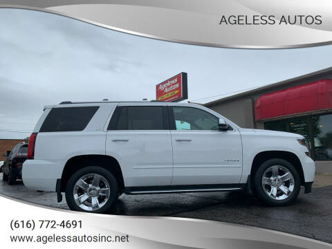 2015 Chevrolet Tahoe for sale at Ageless Autos in Zeeland MI