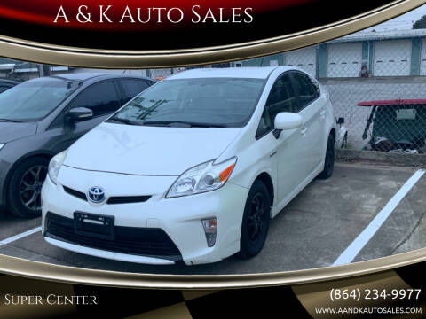 2015 Toyota Prius for sale at A & K Auto Sales in Mauldin SC