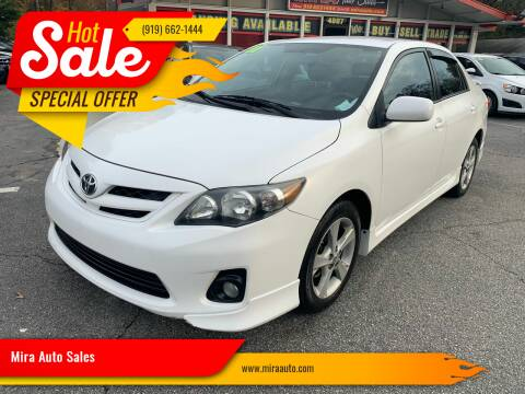 2011 Toyota Corolla for sale at Mira Auto Sales in Raleigh NC