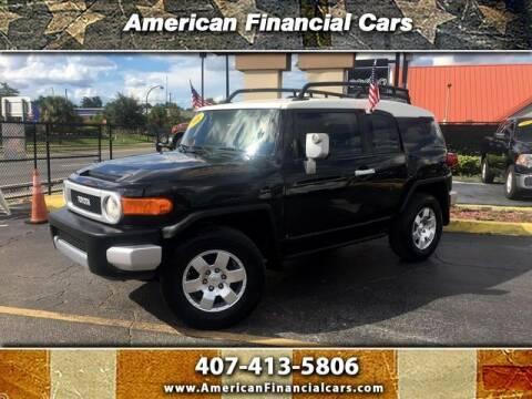 2008 Toyota FJ Cruiser for sale at American Financial Cars in Orlando FL