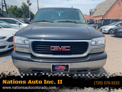 2006 GMC Yukon for sale at Nations Auto Inc. II in Denver CO