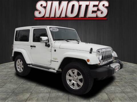 2013 Jeep Wrangler for sale at SIMOTES MOTORS in Minooka IL