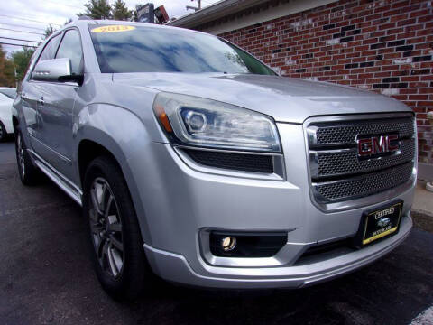2013 GMC Acadia for sale at Certified Motorcars LLC in Franklin NH