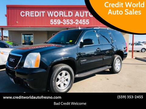 2012 GMC Yukon for sale at Credit World Auto Sales in Fresno CA
