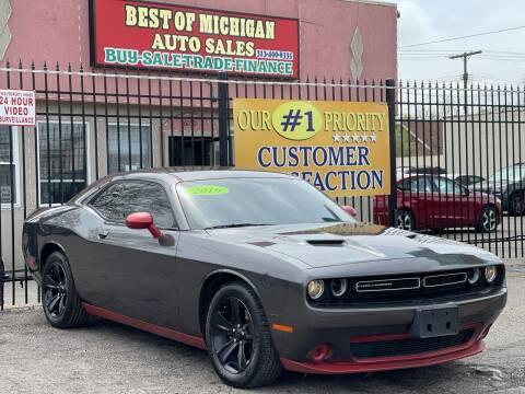 2016 Dodge Challenger for sale at Best of Michigan Auto Sales in Detroit MI