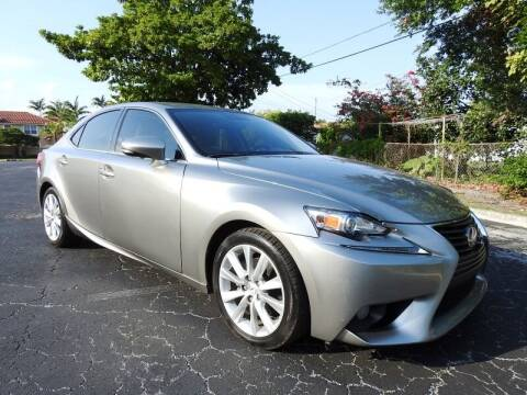 2014 Lexus IS 250 for sale at SUPER DEAL MOTORS 441 in Hollywood FL