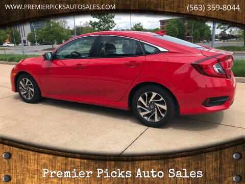 2018 Honda Civic for sale at Premier Picks Auto Sales in Bettendorf IA