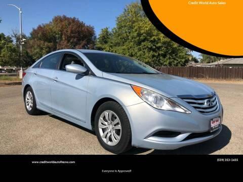 2012 Hyundai Sonata for sale at Credit World Auto Sales in Fresno CA