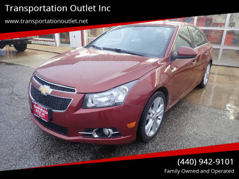 2013 Chevrolet Cruze for sale at Transportation Outlet Inc in Eastlake OH