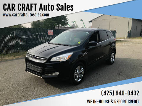 2016 Ford Escape for sale at Car Craft Auto Sales Inc in Lynnwood WA
