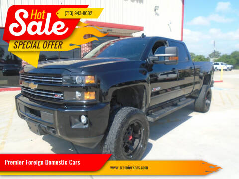2016 Chevrolet Silverado 2500HD for sale at Premier Foreign Domestic Cars in Houston TX