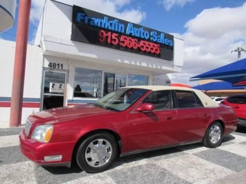 2005 Cadillac DeVille for sale at Franklin Auto Sales in El Paso TX