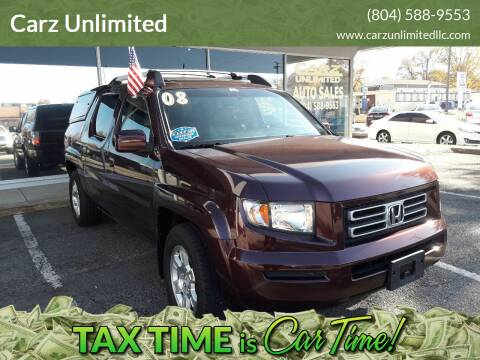 2008 Honda Ridgeline for sale at Carz Unlimited in Richmond VA