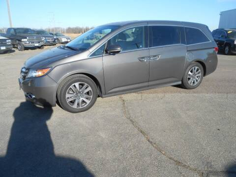 2014 Honda Odyssey for sale at Salmon Automotive Inc. in Tracy MN