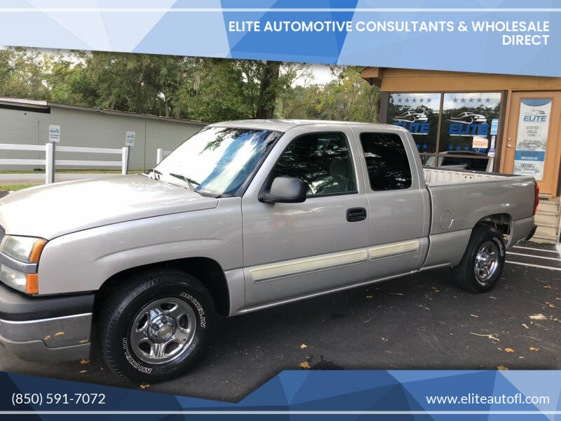 2004 Chevrolet Silverado 1500 for sale at Elite Automotive Consultants & Wholesale Direct in Tallahassee FL