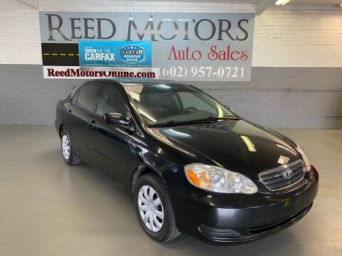 2005 Toyota Corolla for sale at REED MOTORS LLC in Phoenix AZ