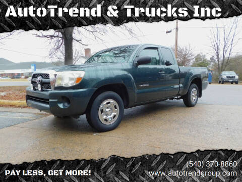 2011 Toyota Tacoma for sale at AutoTrend & Trucks Inc in Fredericksburg VA