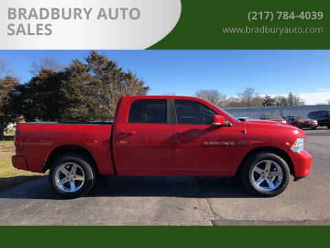 2011 RAM Ram Pickup 1500 for sale at BRADBURY AUTO SALES in Gibson City IL