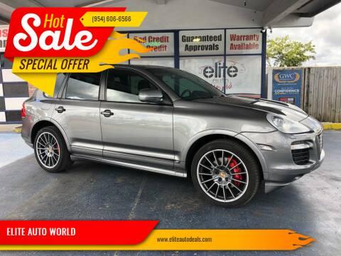 2009 Porsche Cayenne for sale at ELITE AUTO WORLD in Fort Lauderdale FL