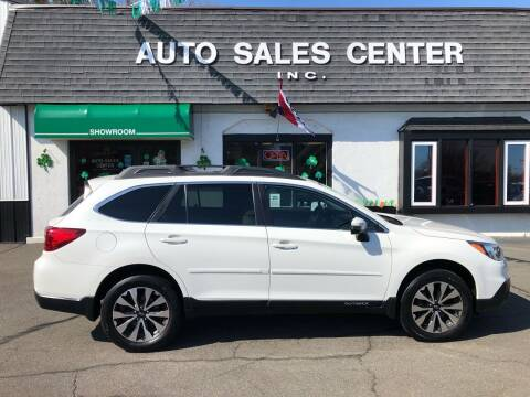 2017 Subaru Outback for sale at Auto Sales Center Inc in Holyoke MA