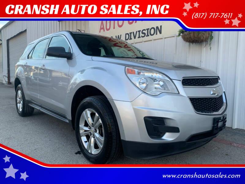 2010 Chevrolet Equinox for sale at CRANSH AUTO SALES, INC in Arlington TX