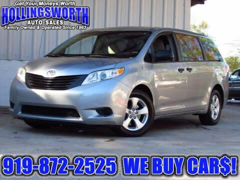 2011 Toyota Sienna for sale at Hollingsworth Auto Sales in Raleigh NC