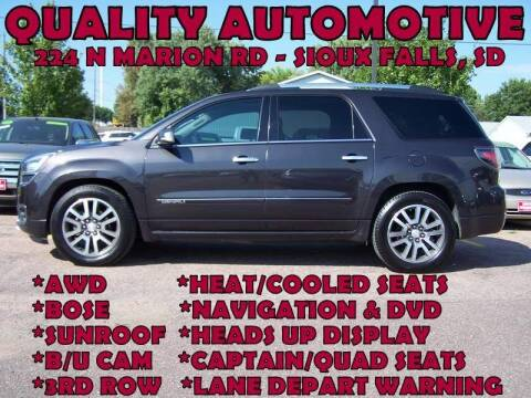 2016 GMC Acadia for sale at Quality Automotive in Sioux Falls SD