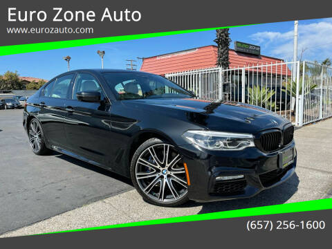 2018 BMW 5 Series for sale at Euro Zone Auto in Stanton CA