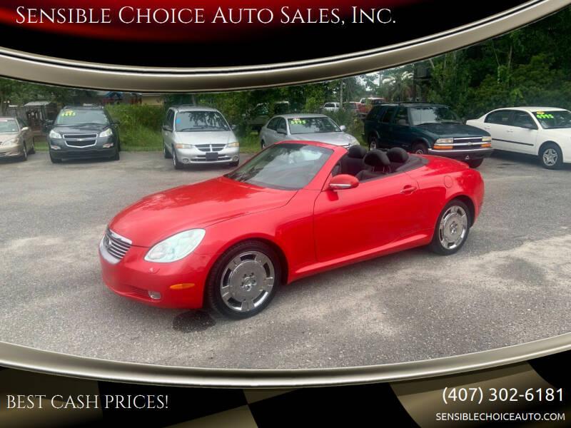2003 Lexus SC 430 for sale at Sensible Choice Auto Sales, Inc. in Longwood FL