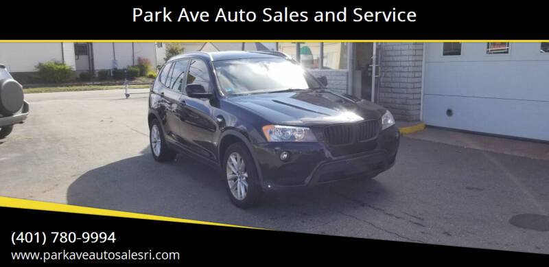 2013 BMW X3 for sale at Park Ave Auto Sales and Service in Cranston RI