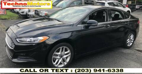 2013 Ford Fusion for sale at Techno Motors in Danbury CT