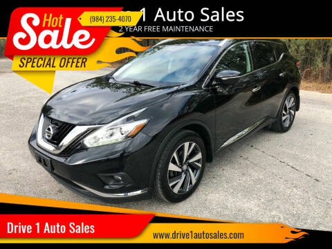 2015 Nissan Murano for sale at Drive 1 Auto Sales in Wake Forest NC