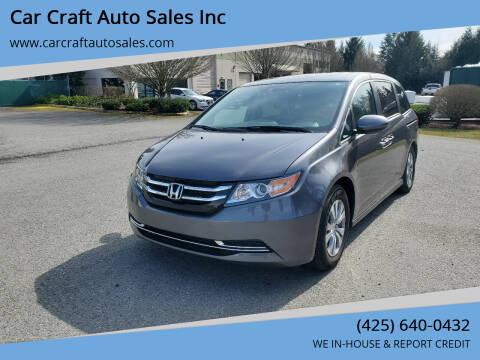 2016 Honda Odyssey for sale at Car Craft Auto Sales Inc in Lynnwood WA