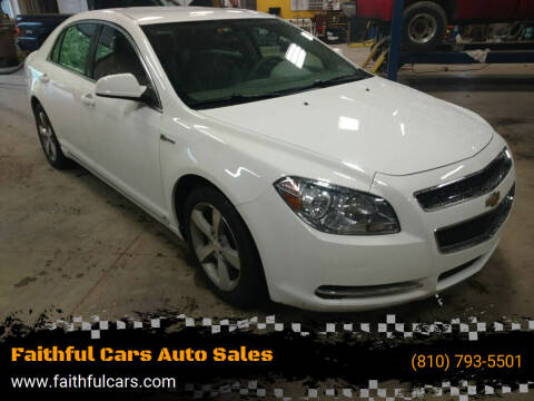 2010 Chevrolet Malibu Hybrid for sale at Faithful Cars Auto Sales in North Branch MI
