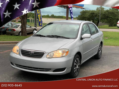 2008 Toyota Corolla for sale at Central Union Auto Finance LLC in Austin TX