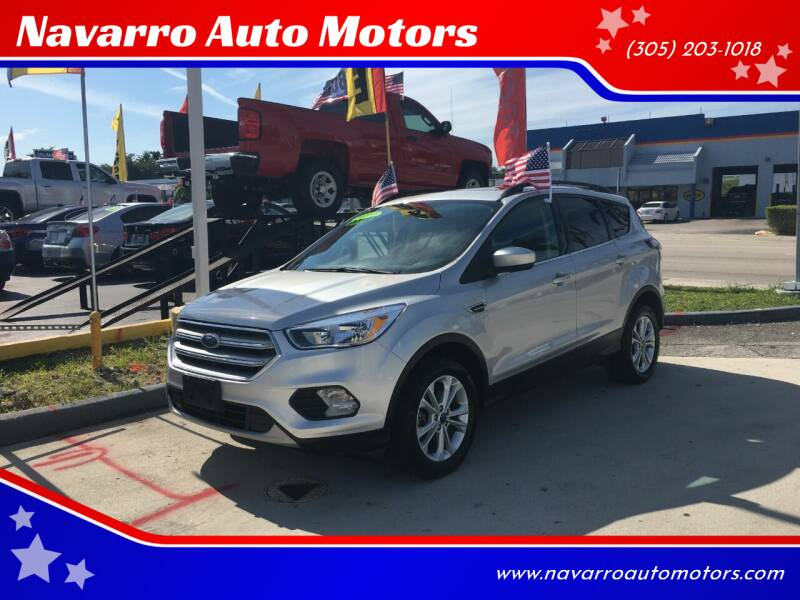 2018 Ford Escape for sale at Navarro Auto Motors in Hialeah FL