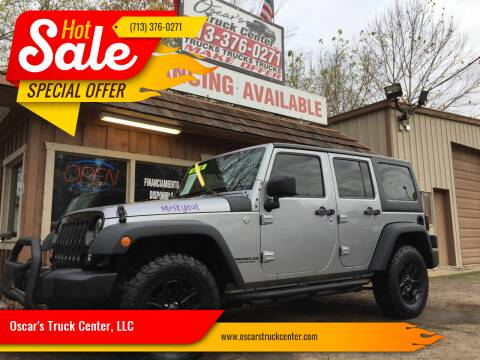 2014 Jeep Wrangler Unlimited for sale at Oscar's Truck Center, LLC in Houston TX